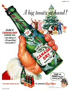 Vintage Canada Dry Ginger Ale Ad, 1952