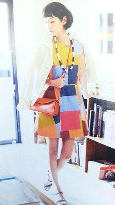 Seamed Dress in Color Field