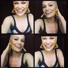 Jessie J with her shaved head, she rocks it!