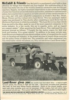 Land-Rover gives you - ROVERHAUL.com, Land Rover Restorations & Pictures