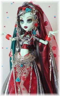 Harem Queen Custom OOAK Monster High Doll Art Doll Frankie Monster High by C | eBay