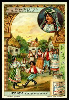 Liebig S 769 Hungarian Bridal Costume Vintage Cards, Vintage Postcards, Vintage Images, Card Costume, Graphic 45, Vintage Advertisements, Vintage Prints, Travel Posters, Flower Art