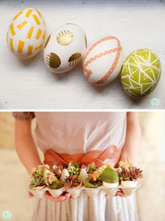 Lovely Indeed Washi Tape DIY and Roy Joy Easter Succulent DIY