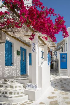 Europe, Greece, Cyklades, Mykonos, Part of the Cyclades Island Group in the Aegean Sea-Christian Heeb-Photographic Print Places To Travel, Places To Go, Greek Decor, Greek House, Travel Aesthetic, Pink Aesthetic, Greece Travel, Greek Islands, Travel Images