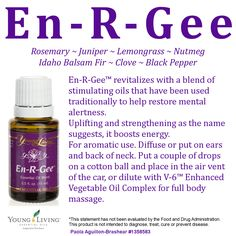 Young Living Essential Oils En-R-Gee for more information or to order: www.youngliving.org/ambermoore