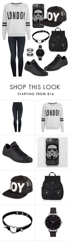 """Monday"" by purplegirl74 ❤ liked on Polyvore featuring Mother, ONLY, Converse, BOY London, Accessorize, Olivia Burton, Eva Fehren and country"