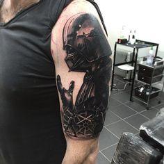 Tattoo Darth Vader Recherche Google Star Wars Tatoo Star, Tatoo 3d, War Tattoo, Sick Tattoo, Star Wars Tattoo, Life Tattoos, New Tattoos, White Girl Tattoo, Music Girl