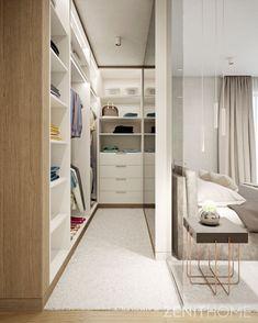 Modern gardrób az ágy mögött 👜 Modern wardrobe behind the bed