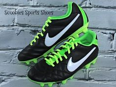 premium selection cd63a 4d670 Nike Tiempo Natural IV FG Soccer Cleats Size 8 Black Green  Nike Soccer  Cleats