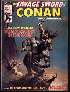 Savage Sword of CONAN #4 Robert E. Howard Blackmark Gil Kane Neal Adams Alcala Richard Corben Buscema Barbarian Sword & Sorcery Fantasy