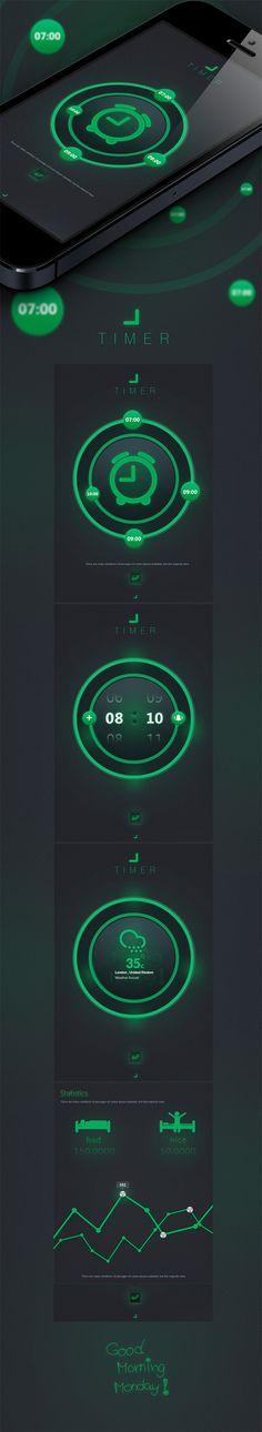 Timer by Cüneyt ŞEN, via Behance