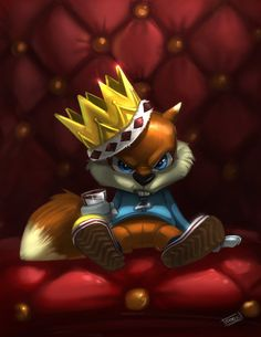 conker bad fur day fan art by sonic Conkers Bad Fur Day Copy Happy Squirrel, Squirrel Art, Super Smash Bros, Conker Live And Reloaded, Geeky Wallpaper, Diddy Kong Racing, Conkers, Old Games, Video Game Art