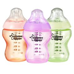 Tommee Tippee Closer to Nature 9-ounce Colour My World Bottles