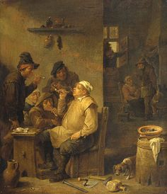David Teniers II - Bricklayer smoking a pipe