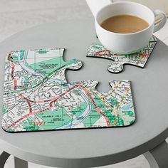 Four Personalised Postcode Map Coasters from notonthehighstreet.com