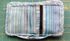 I due portafogli panno duplice fare esercitazione 2 - SewLover cucitura modello scuola Arte bag | Tutorial borsa |