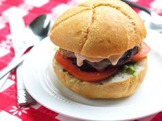The Best Portobello Mushroom Burger with Chipotle Mayo