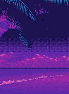 Pixel Art Vaporwave Seapunk