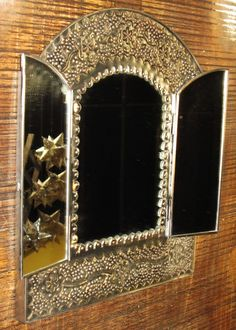 """Punched Tin """"Window"""" Mirror - Handcrafted - Mexican Folk Art"""