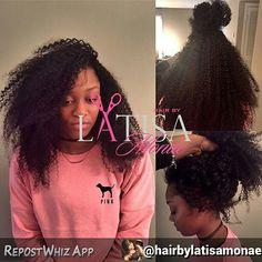 repost via @instarepost20 from @queenvirginremy By @hairbylatisamonae #comegetyourweavegirl Versatile sew in for curly hair styles . Both side parts , top knot, bun, pony , straight back . Styles are endless . Hair from @queenvirginremy . Ask about this method #HAIRBYLATISAMONAE #HAIRSTYLIST #HAIR #BIGHAIR #ATLANTA #ATLANTAHAIRSTYLIST #SPELMAN #CAU #BOOKME#instarepost20