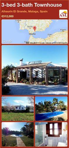 3-bed 3-bath Townhouse in Alhaurin El Grande, Malaga, Spain ►€312,000 #PropertyForSaleInSpain
