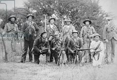 Boer commandos armed with the German Mauser rifle Model 1895 (b/w photo) World Conflicts, Winston Churchill, Folk Music, Zulu, My Heritage, Old West, Rifles, Military History, Victorian Era