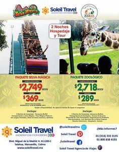 SELVA MÁGICA desde $2,749 MXN  ZOOLÓGICO EN GUADALAJARA desde $2,718 MXN  Vigentes hasta el 15 de Diciembre de 2015 Sujeto a disponibilidad No aplica en fechas de expos ni congresos