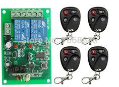 2015  New DC 12V 2 CH 2CH RF Wireless Remote Control Switch System,4 X Transmitter + 1 X Receiver,315/433 MHZ #Affiliate