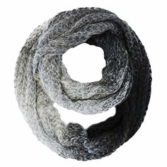 Luxury Divas Black Gradient Ombre Heavy Knit Winter Circle Infinity Scarf -- Read more reviews of the product by visiting the link on the image.