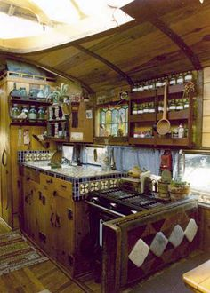 I have always been open to the idea of having a bus that we lived on from time to time. If this were the kitchen in said bus, I would probably already be on it!
