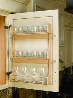 Buy the Rev-A-Shelf Natural Wood Direct. Shop for the Rev-A-Shelf Natural Wood Series Door Mount Spice Rack for Wall Cabinet and save. Spice Organization, Kitchen Cabinet Organization, Storage Cabinets, Kitchen Storage, Cabinet Organizers, Organizing, Spice Racks For Cabinets, Tea Storage, Pantry Storage