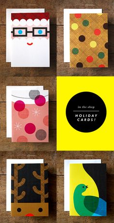 I'm starting to put a few things in the shop in time for the holidays. First up: holiday cards! I have 5 different designs -- you can bu. Christmas Mood, Modern Christmas, Christmas Design, Christmas Crafts, Holiday Fun, Festive, Christmas Inspiration, Inspiration Cards, Design Inspiration