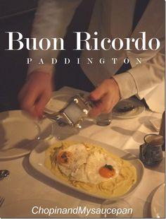 Fettuccine al tartufovo – fettuccine with cream, parmesan and fried truffle egg, the signature dish of Sydney's Buon Ricordo.