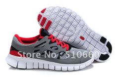 size 40 3a8d9 a42a7 Nike Free Run 2 Gris Rouge Blanc Femmes
