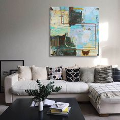 Abstract painting 'Journey of Camberwell Beauty' really adds flair to this livingroom decor. Plywood Panels, Small Paintings, Wood Paneling, Art Tutorials, My Images, Living Room Decor, Abstract Art, My Arts, Drawings