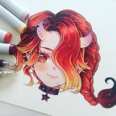 Mes marque-pages - Anime girls - Copic Marker Art, Copic Art, Copic Drawings, Kawaii Drawings, Cute Drawings, Art Anime Fille, Anime Art Girl, Anime Girls, Anime Kawaii