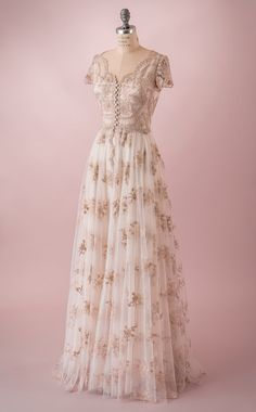 Vintage inspired wedding dress made of by MartinMcCreaCouture