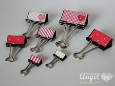 Decorated Bulldog Clips ~ duct tape and it's many uses. Cute Crafts, Crafts To Sell, Diy And Crafts, Diy Gifts To Make, Homemade Gifts, Binder Decoration, Fundraising Crafts, Paper Binder, Duct Tape Crafts