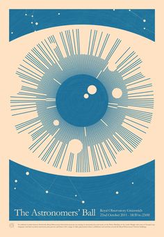 The Astronomers' Ball Print was designed by Simon C. Page to celebrate  the London Science Festival.