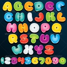 3D Cartoon Letters