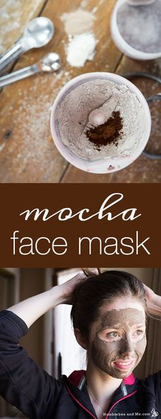 How to make an exfoliating Mocha Face Mask with coffee beans, clay, and cocoa powder.