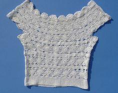 1970's Original Vintage Hippie Hand Crocheted by LostYearsVintage