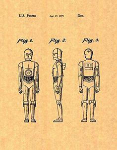 "Star Wars C-3PO Patent Art Print Poster (8.5"" x 11"") Frame a Patent http://www.amazon.com/dp/B00J54FJJE/ref=cm_sw_r_pi_dp_pKGPub1BY0X1R"