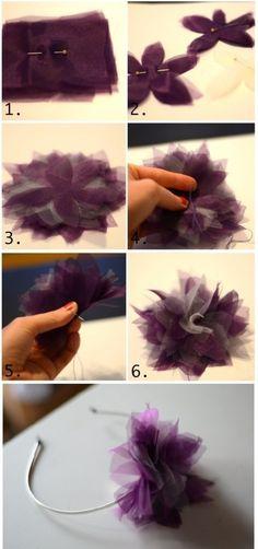 Aprende a hacer una diadema con tul en solo seis pasos: | 19 Formas creativas de hacer tus propios accesorios para el pelo