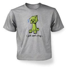 Amazon.com: Something Geeky PP - Hug me Creeper Kids T-shirt: Clothing