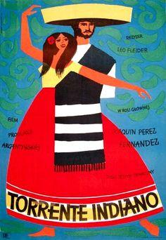 Vintage Movie poster Argentina 1957 by Hubert Hilscher