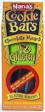 "Favorite Gluten-Free Cookies especially for Kids - Nana's Gluten-Free Chocolate Munch Bars are sweetened with 100% fruit juice (yep, no added sugars!) The texture is crumbly yet each bite easily melts in your mouth. The taste is so sweet and chocolatey, you can't tell the difference! A ""healthy"" cookie I can trust and say ""Yes!"" to every night!"