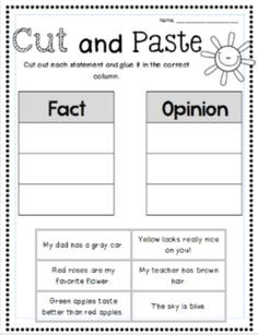 Fact and Opinion Worksheets   Englishlinx.com Board   Pinterest ...