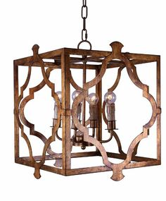 Our Isla Geometric Chandelier will easily become the focal point of your kitchen, dining room, or outdoor dining space. The unique cage surrounding the classic