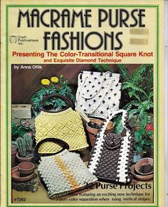 Presenting the color-transitional square knot and exquisite diamond technique these purses are beautiful no matter where you live. There are